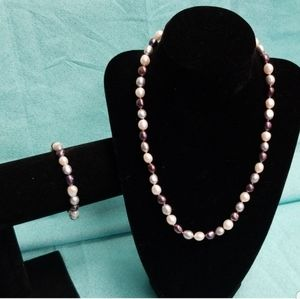 Honora pearl necklace and bracelet set NWT